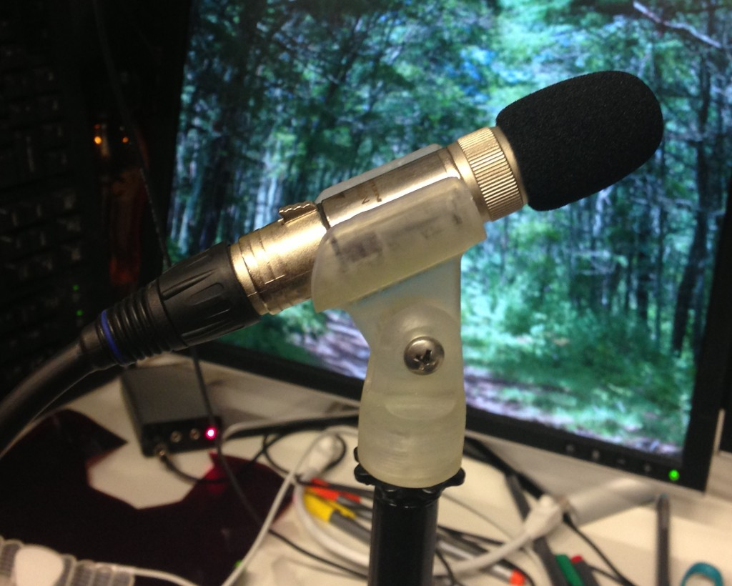 3D-printed microphone clip